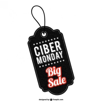 Cyber Monday Sale Tag Free Vector