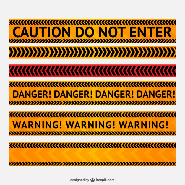 Danger and Warning Line Free Vector