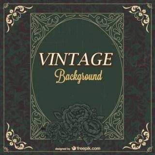 Dark Vintage Background Free Vector
