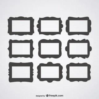 Decorative Frames Set Free Vector