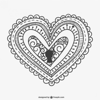 Decorative Heart Lock Free Vector
