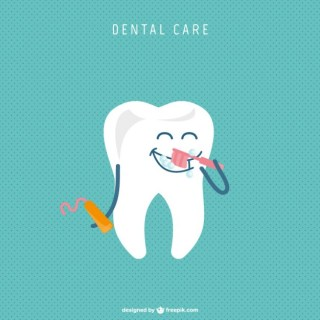 Dentist Cute Cartoon Design Free Vector