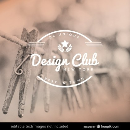 Design Club Label Design Free Vector