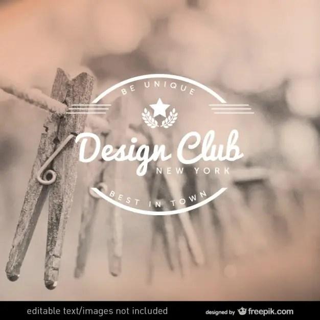 Design Club Label Design Free Vector
