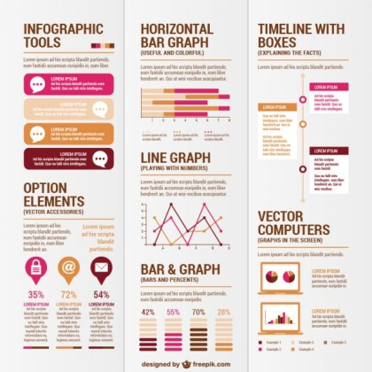 Design Elements for Infographies Free Vector