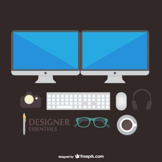 Designer Tools Illustration Free Vector