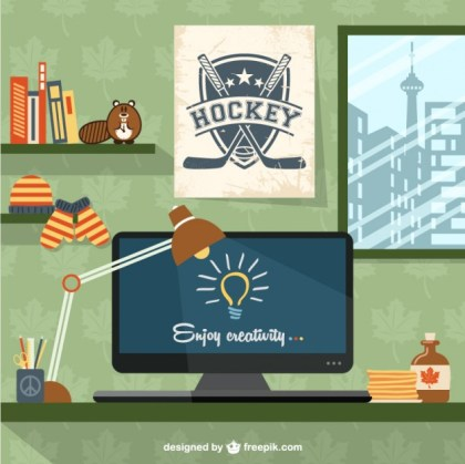 Designers Workspace Canada Decor Free Vector