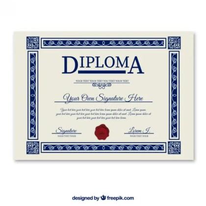 Diploma Template Free Vector