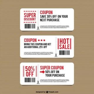 Discount Coupon Templates Free Vector