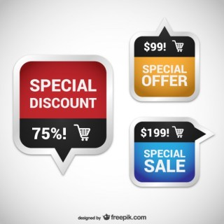 Discount Coupons Pack Free Vector