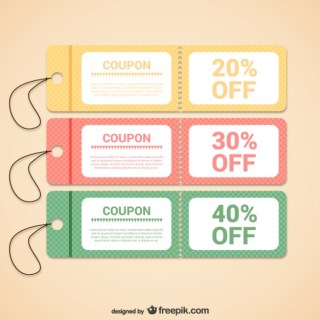 Discount Coupons Templates Free Vector