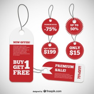 Discount Product Labels Free Vector