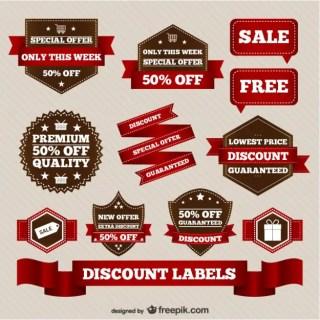 Discount Retro Sale Elements Free Vector