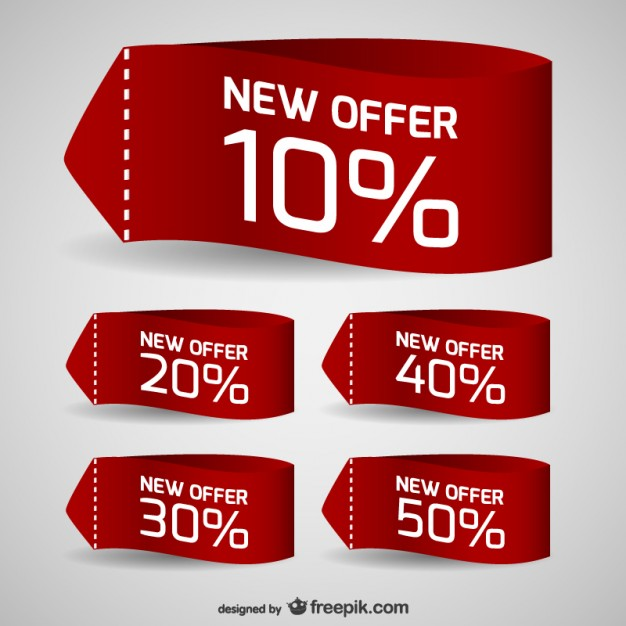Discount Sale Tags Free Vector