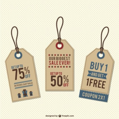 Discount Tags Free Vector