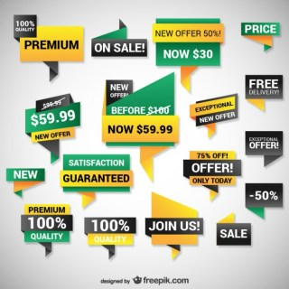 Discount Web Banners Free Vector
