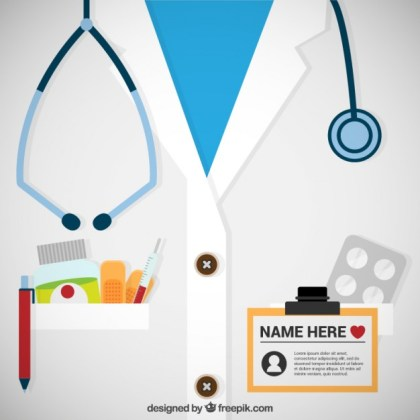 Doctor Pass Template Free Vector