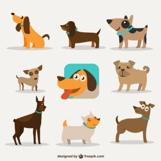 Dog Cartoon Design Free Vector