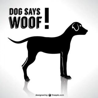 Dog Silhouette Design Free Vector