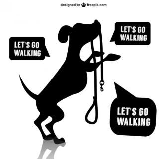 Dog Walk Design Free Vector