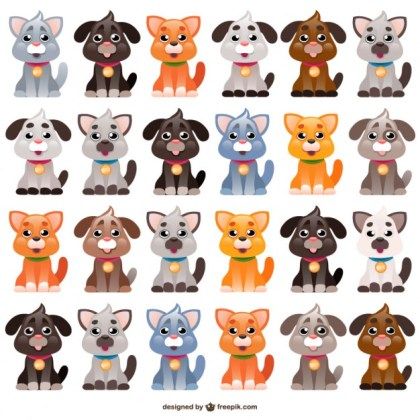 Dogs Cartoons Free Vector
