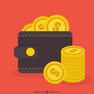 Dollar Coins Free Vector