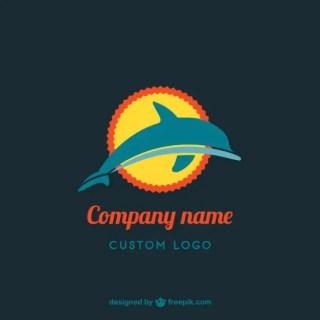 Dolphin Logo Design Free Vector