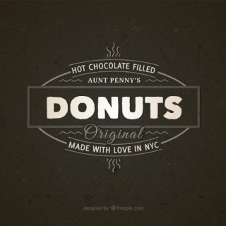 Donuts Vintage Badge Free Vector
