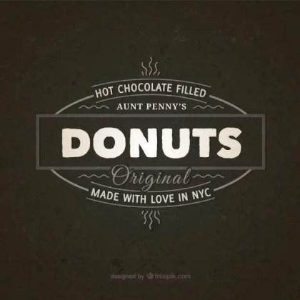 Donuts Vintage Badge Free Vector