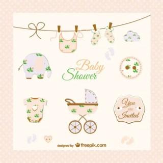 Doodle Baby Stroller Design Free Vector