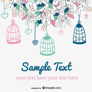 Doodle Wedding Invitation Free Vector