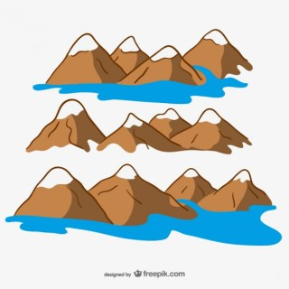 Drawing Mountains Design Free Vector