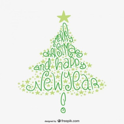 Drawn Christmas Tree Free Vector