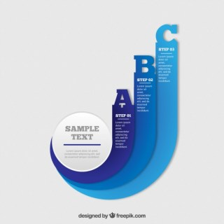 Dynamic Infographic Template Free Vector