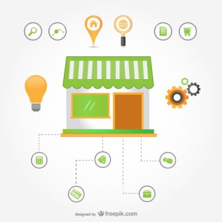 E-Commerce Infographic Free Vector