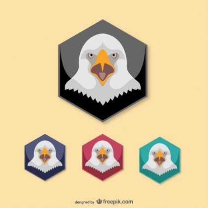 Eagle Heads Pack Free Vector