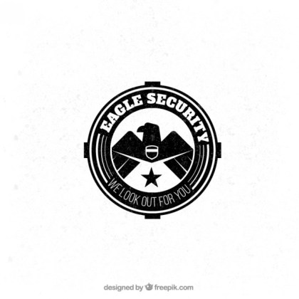 Eagle Security Badge Free Vector