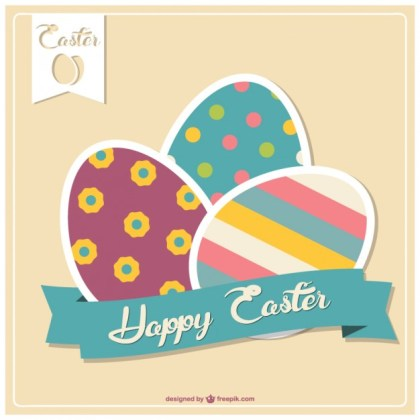 Easter Card Template Free Vector