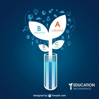 Education and Science Infographic Free Vector