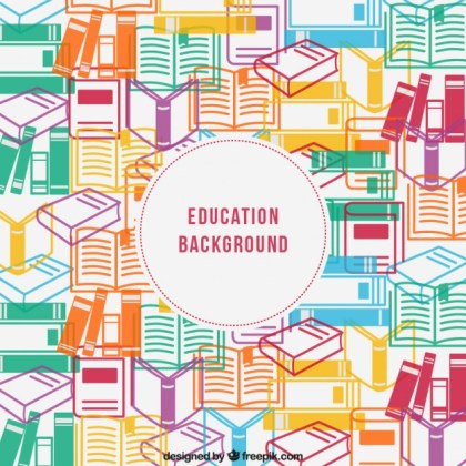 Education Background Free Vector