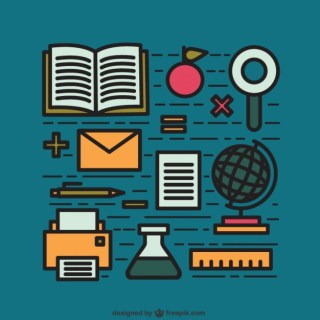 Education Elements Free Vector