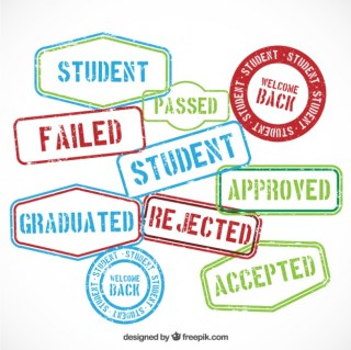 Education Rubber Stamp Messages Free Vector
