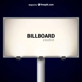 Elegant Billboard with Spotlights Free Vector