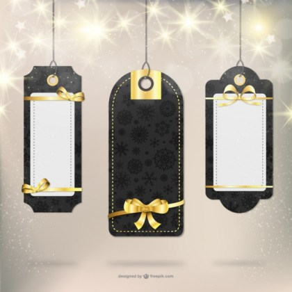 Elegant Christmas Gift Labels Free Vector