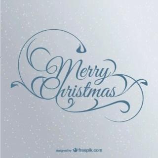 Elegant Christmas Lettering Free Vector