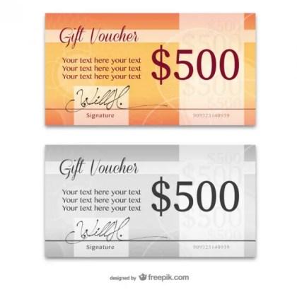 Elegant Gift Card Templates Free Vector