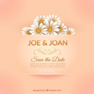 Elegant Marriage Invitation Card Free Vector