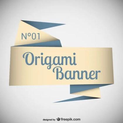 Elegant Origami Banner Template Free Vector