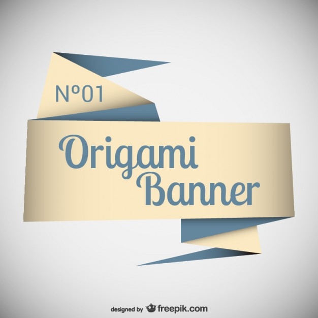 Elegant Origami Banner Template Free Vector