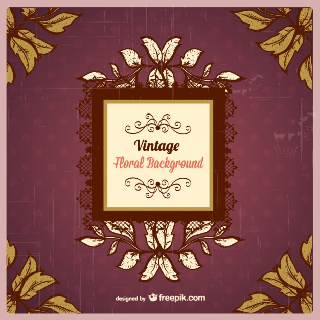 Elegant Retro Background Free Vector